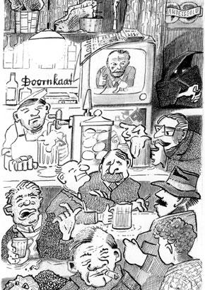 Illustration der Totenkopfbande