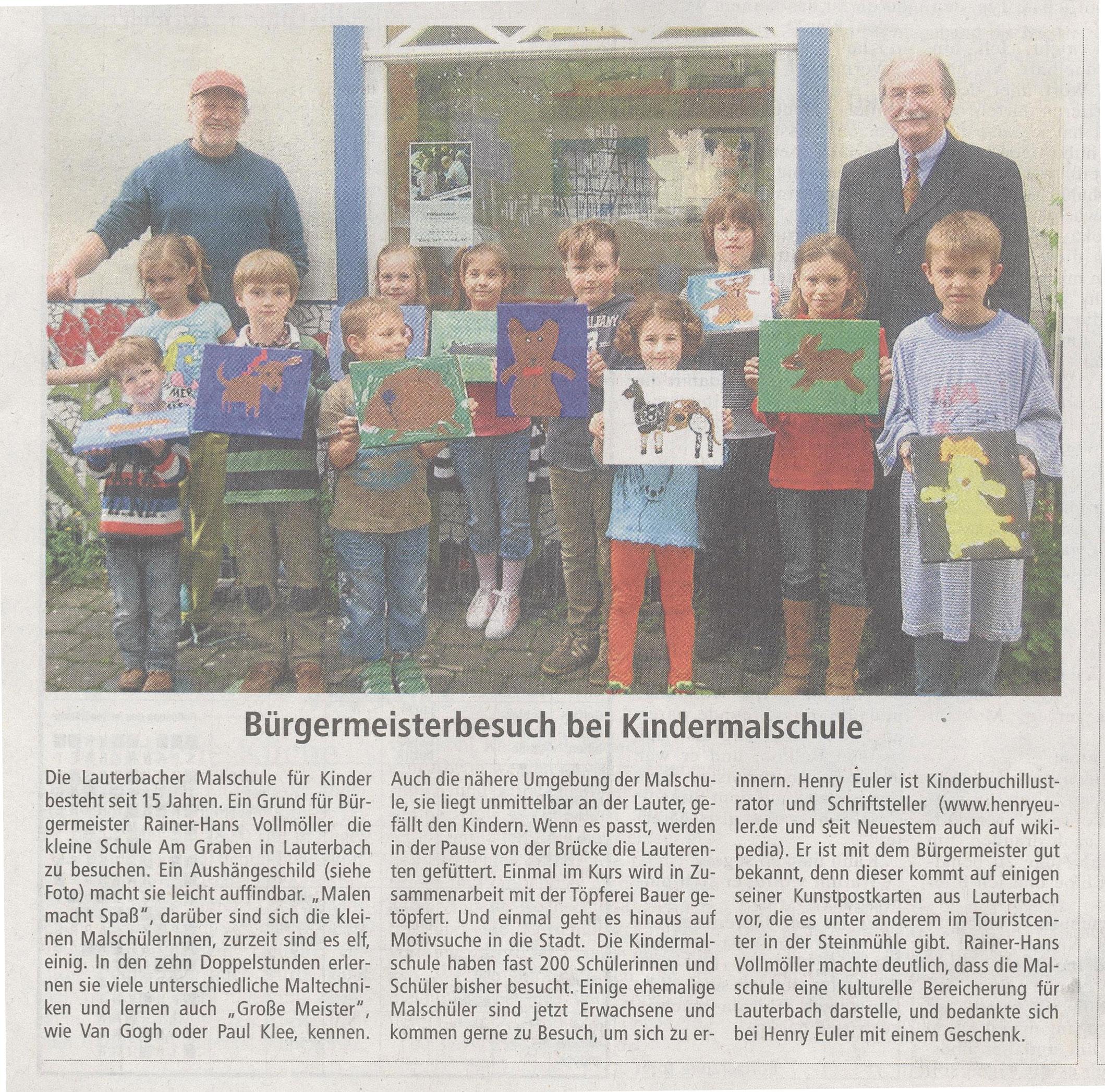 Malschule Jubiläum mit Bürgermeister
